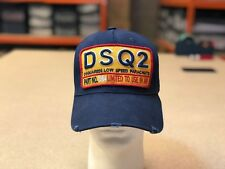 Dsquared2 DSQ Hat Navy Blue Baseball  Cap dsquared2 SnapBack Cap