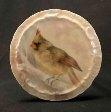 Early 20th C HandPainted Male Cardinal Porcelain Wall Plate Signed Dee Blackburn