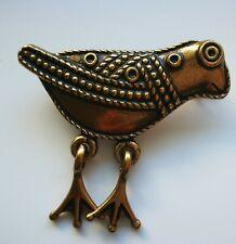 Kalevala Koru Finland Bird From Hattula Small Brooch Bronze