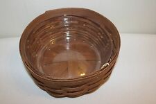 Longaberger Darning Basket Set - Rich Brown- New!
