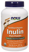 NOW FOODS Organic Inulin Pure Powder (Probiotic) 227g FREE WORLDWIDE SHIPPING