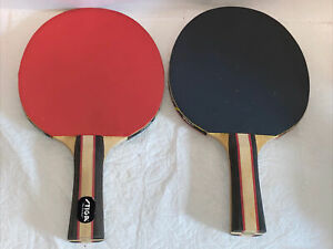 "Lot Of 2 Ping Pong Paddles Rackets STIGA 10"" X 6"" Game"