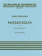 G.F. Handel/Johan Halvorsen Passacaglia In G Minor For Violin  - 9788759850244