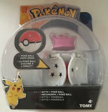 Pokemon Tomy Ditto and Pokeball Set Throw and Pop action figure Brand New Rare