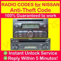 NISSAN RADIO CODE MICRA NOTE K12 Blaupunkt Unlock Instant & Expert Service