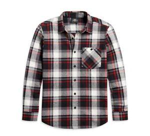 Harley Davidson Mens Yarn Dyed Plaid Shirt 96160-21VM