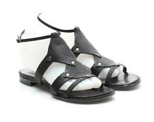 Proenza Schouler Black Embossed Leather Open Toe Sandals Size 37 7