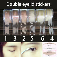 600Pcs Clear Wide/Thin Invisible Double Eyelid Lift Adhesive Eyes Tape Sticker