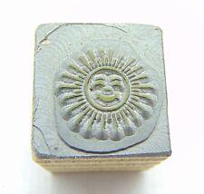 Printing Letterpress Printers Block Tiny Sun With Face