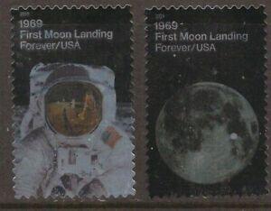 Scott #5399-5400 Used Set of 2, Moon Landing (Off Paper)