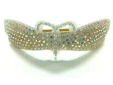 Plastic Rhinestones Other Jeweleries Auth Alexandre de Paris White