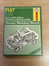 FIAT 126 1973-1977 594cc HAYNES WORKSHOP MANUAL 305 GOOD USED COND & FREE P&P