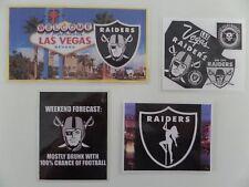 """LAS VEGAS RAIDERS """"NFL FOOTBALL"""",  Set of 4,  Fridge Magnets, '""""Sin-City"""" Nevada"""