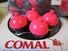 "NEW Lot of 4 Comal HOT PINK & Black 2"" bobbers All-American Plastic Bobbers"