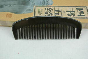 New Black buffalo Horn Comb No handle Hair Comb Wide Toothed Comb Eeay To Carrry