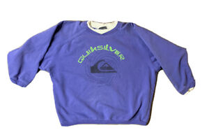 VTG Quicksilver Surf Distressed Sweatshirt Size Large Made USA