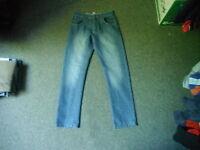 "George Straight Jeans Waist 28"" Leg 28"" Faded Dark Blue Boys 12/13 Yrs Jeans"