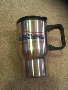 Stainless Steel 16 OZ Travel Coffee Mug. American Family Insurance.