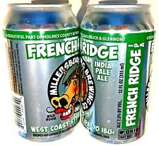Millersburg Brewing French Ridge IPA empty 12 oz beer can 2017 Ohio bottom open