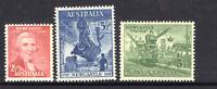 AUSTRALIA 1947 -150TH ANNIVERSARY OF NEWCASTLE COMPLETE SET OF 3 MUH