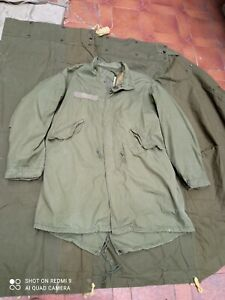 Original US Army ECW fishtail parka and hood M1965 M65 LARGE