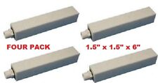 "Cube air stone 1/2"" NPT Inlet 1.5"" x 1.5"" x 6"" 4-pack"