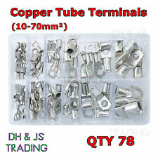 Assorted Box of Copper Tube Terminals 12 Most Popular 10 16 25 35 50 70mm Qty 78