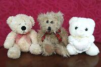 3 Friends Teddies- Russ Berrie & Bhs Teddy Bear+Pms Teddy bear