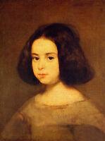 Huge nice Oil painting Diego Velazquez - Portrait of a Little Girl canvas
