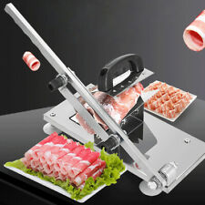 More details for manual frozen food meat slicer beef mutton sheet roll cutter machine