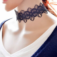 Women Black Flower Lace Choker Necklace Bracelet Neck Lace Tatoo Charm Jewelry