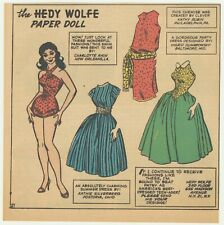 Hedy Wolfe Paper Doll From Newspaper - 1958