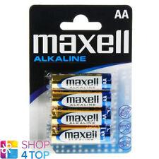 4 MAXELL ALKALINE AA R6 BATTERIES 1.5V BLISTER PACK MN1500 AM3 E91 NEW