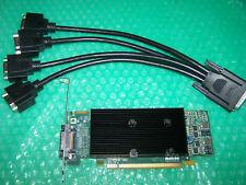 Matrox M9120 Plus 512MB PCI-E x16 Quad Monitors Graphics Card + Cable