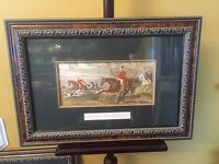 """Antique Print Talley Ho,Gorgeous Frame.23""""x17""""X2""""D.See12pics4details. MAKE OFFER"""