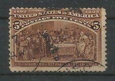 USA, MiNr. 77 sauber erhalten, gestempelt (aus Kolumbus-Satz 1892)