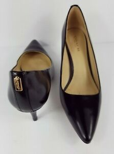 Coach Grand Black Pump Pointed Toe Size 6B