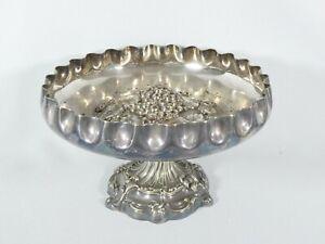 Antique Edwardian 1908 Silver Plated Comport Stand Fruit Bowl Walker Hall 51752