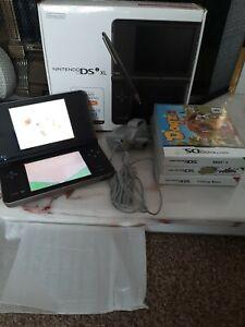 Nintendo DSi XL Bronze Black boxed games bundle lot christmas