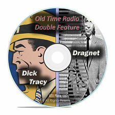 DRAGNET, DICK TRACY, 443 COMPLETE Episodes, Old Time Radio Shows OTR MP3 DVD F61