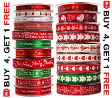 Completa Carrete Cinta Navidad Natural Grosgrain & Raso 20 Mtrs 34 Diferente