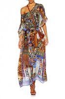 new CAMILLA FRANKS SILK SWAROVSKI GO YOUR OWN WAY ROUND NECK KAFTAN DRESS