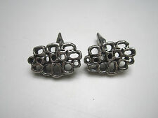 Guy Gilles Vidal signed cufflinks, vintage modernist / brutalist jewellery