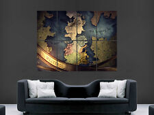 GAME OF THRONES MANIFESTO MAPPA SERIE TV Immagine Enorme GRANDE Wall Art Picture