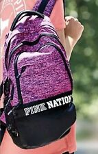 Victoria's Secret PINK NATION Collegiate Backpack 2017 Pink NIP Marl Grey Tote