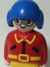 Playmobil Race Car Driver Figure Racecar Red Yellow Blue Helmet 1 2 3  123 1990