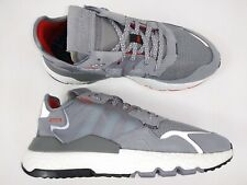 Adidas Mens Nite Jogger EE5869 Gray White Running Sneakers Shoes