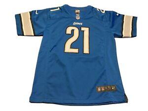Youth Nike Reggie Bush #21 Detroit Lions Blue On Field NFL Jersey Size L