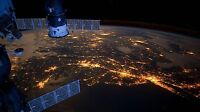 """Earth from International Space Station- 42"""" x 24"""" LARGE WALL POSTER PRINT NEW"""