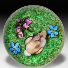Ken Rosenfeld 2015 bunny rabbit mini glass paperweight